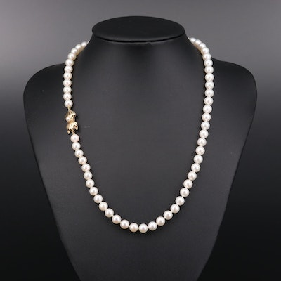 Blue Lagoon by Mikimoto 14K Yellow Gold Pearl Necklace
