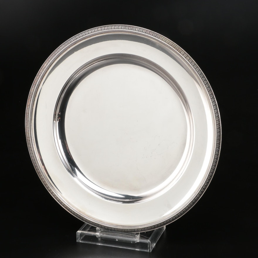 "French Christofle ""Malmaison"" Silver Plate Serving Tray"