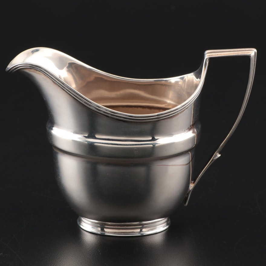 Antique George III English Sterling Silver Creamer, 1805