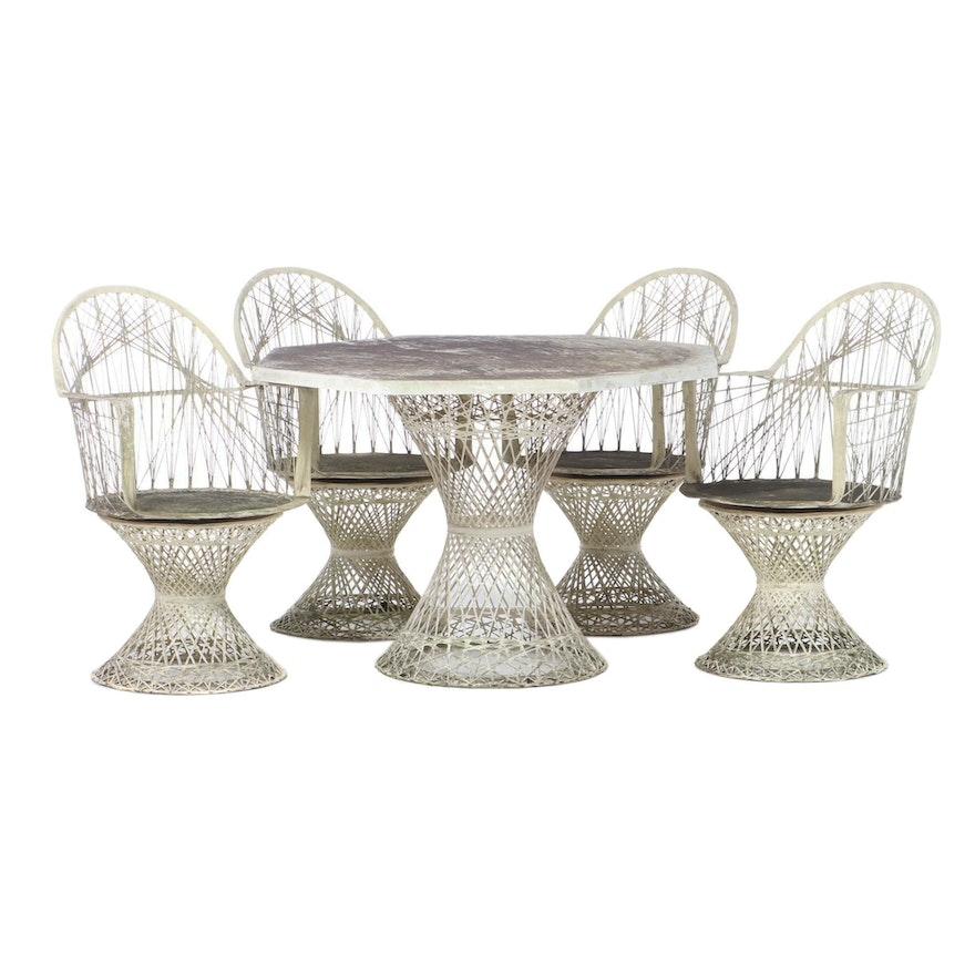 Spun Fiberglass Patio Set, 1960s