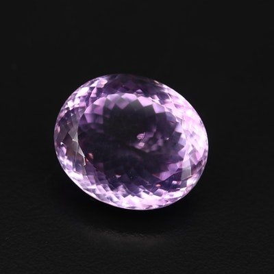 Loose 48.16 CT Oval Faceted Amethyst Gemstone