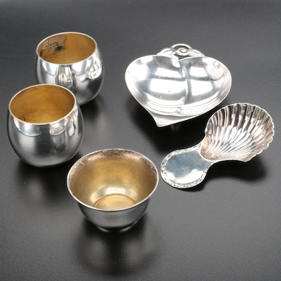 Tiffany & Co. Sterling Table Accessories with 19th Century English Salt Scoop