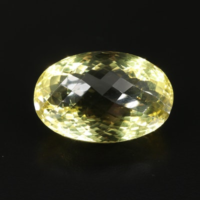 Loose Oval Rose Faceted 50.01 CT Citrine Gemstone