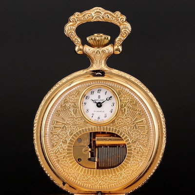 Reuge Swiss Musical Movement Pocket Watch