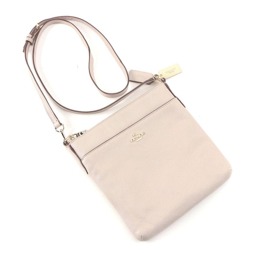 Coach Swingpack Crossbody Bag in Beige Textured Leather