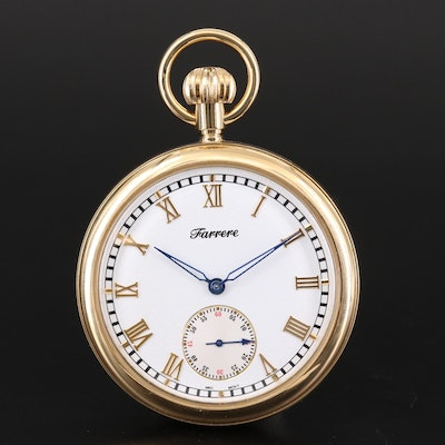 Swiss Farrere Brass Pocket Watch
