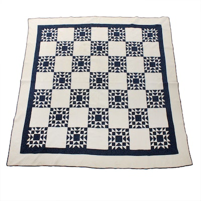 """Handmade Quilt """"Memory Star"""", Late 19th/Early 20th Century"""