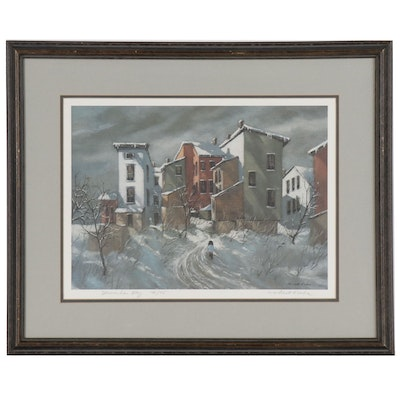 "Robert Fabe Offset Lithograph ""December Day"""