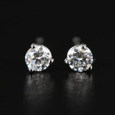 14K White Gold 0.27 CTW Diamond Stud Earrings