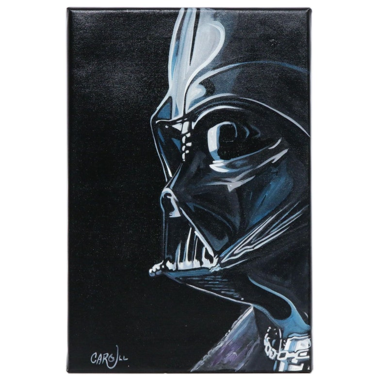Chris Cargill Acrylic Painting of Darth Vader