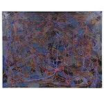 """Farnoosh Lanjani Acrylic Painting """"Tribute to Jackson Pollock II"""""""