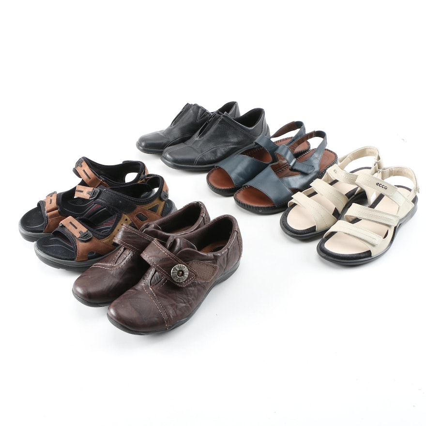 Ecco, Easy Spirit and Clarks Sandals and Walking Shoes