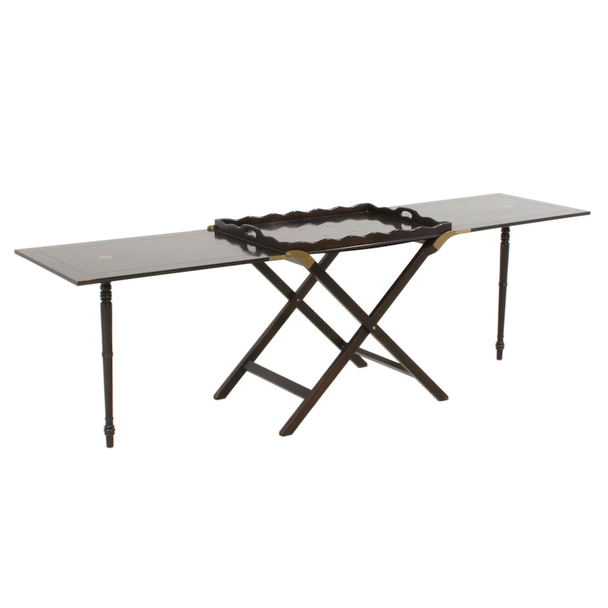 Baker Collapsible Drop Leaf Butler's Table