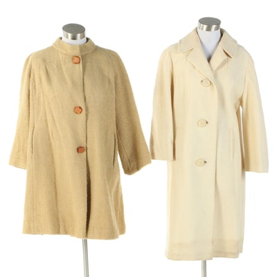 Wool Stroller and Swing Coats Featuring Gregg's of Lima, 1960s Vintage