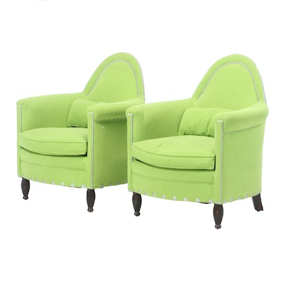 Bradington-Young Pair of Microfiber Club Chairs