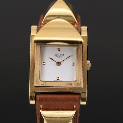 Vintage Herme's Medor Quartz Wristwatch