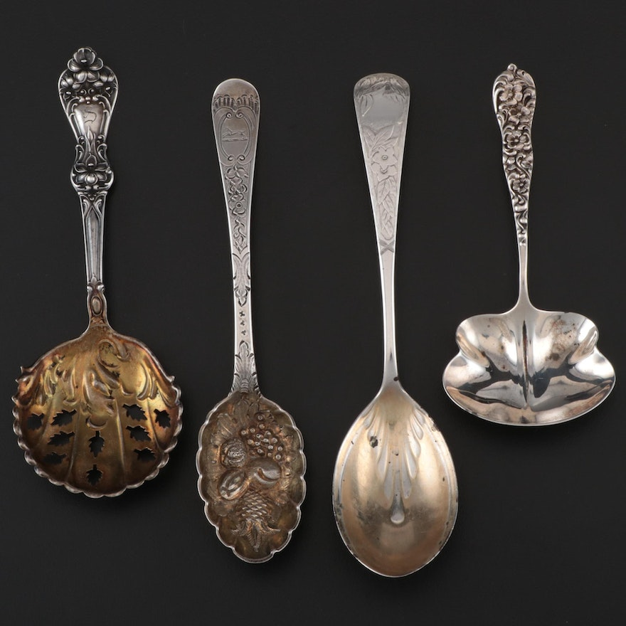 American and English Sterling Utensils Including Gorham and Dominick & Haff