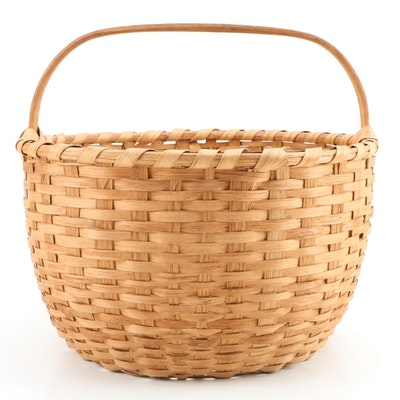 "20"" Handmade White Oak Laundry Basket"