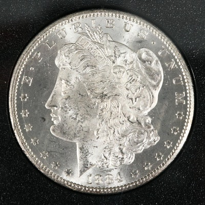 1884 Carson City Silver Morgan Dollar In A GSA Holder