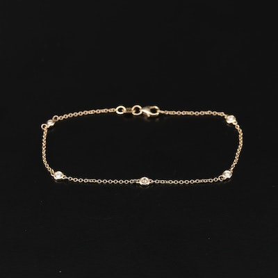 EFFY 14K Yellow Gold Diamond Station Bracelet