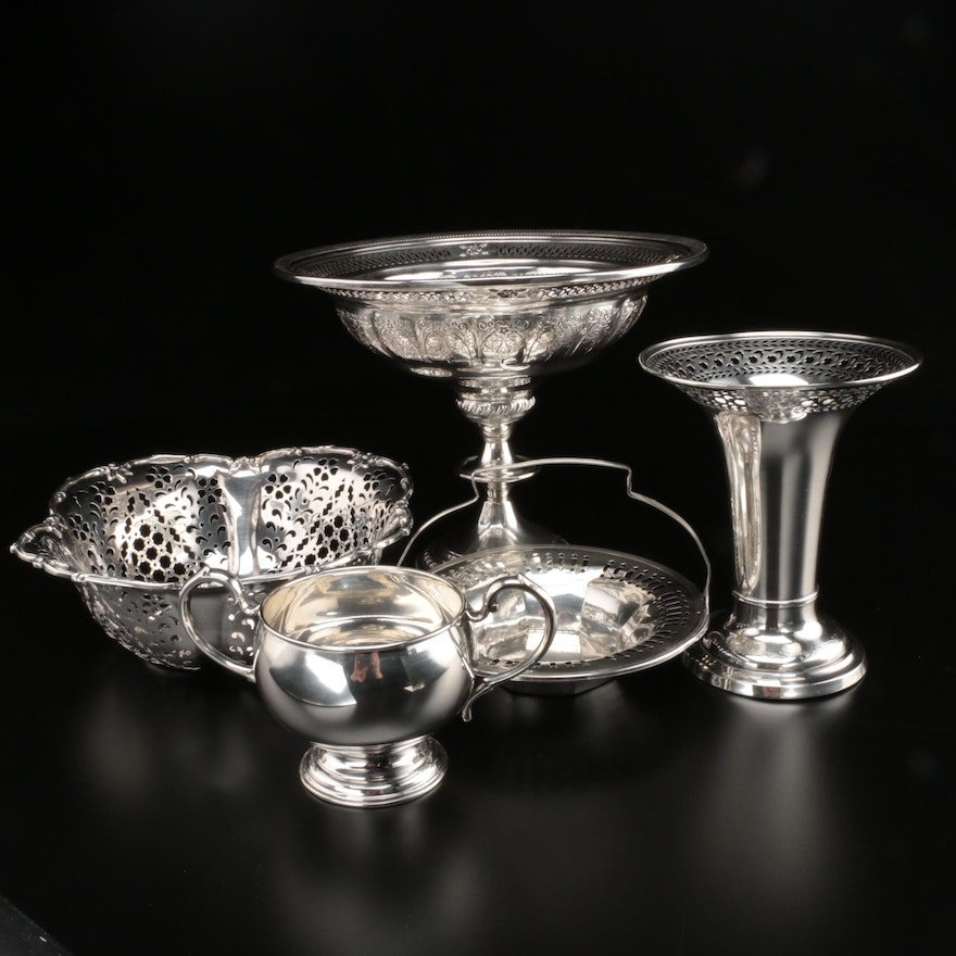 Dunkirk Silversmiths and Other Pierced Sterling Silver Table Accessories