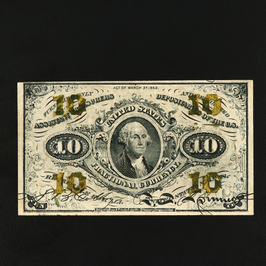 Series of 1863 Third Issue United States Ten Cent Fractional Currency Note