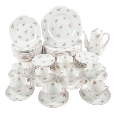 "Shelley ""Bridal Rose"" Porcelain Dinnerware Set, Mid to Late 20th Century"