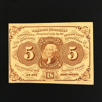 Series of 1862 First Issue United States Five Cent Fractional Currency Note