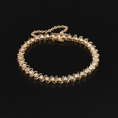 10K Yellow Gold 4.07 CTW Diamond S-Link Bracelet