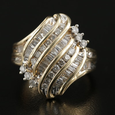 14K Yellow Gold 1.02 CTW Diamond Ring