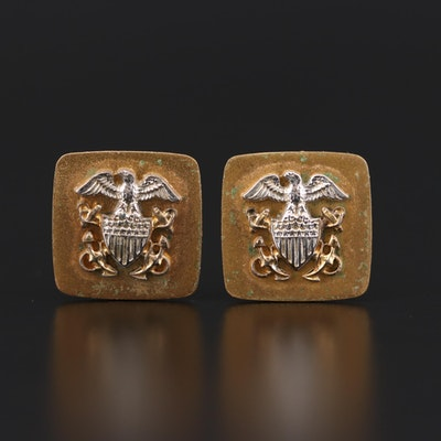 Vintage Military Themed Cufflinks