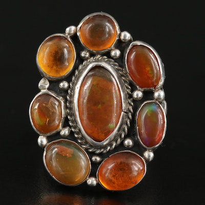 Mexican Sterling Silver Fire Opal Ring