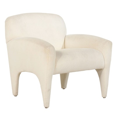Preview Chenille Upholstered Armchair, Late 20th Century
