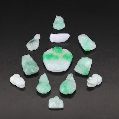 Loose Carved Jadeite Gemstones
