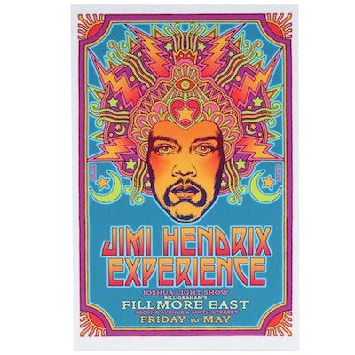 "David Edward Byrd Giclée ""Jimi Hendrix at the Fillmore East 1968"""