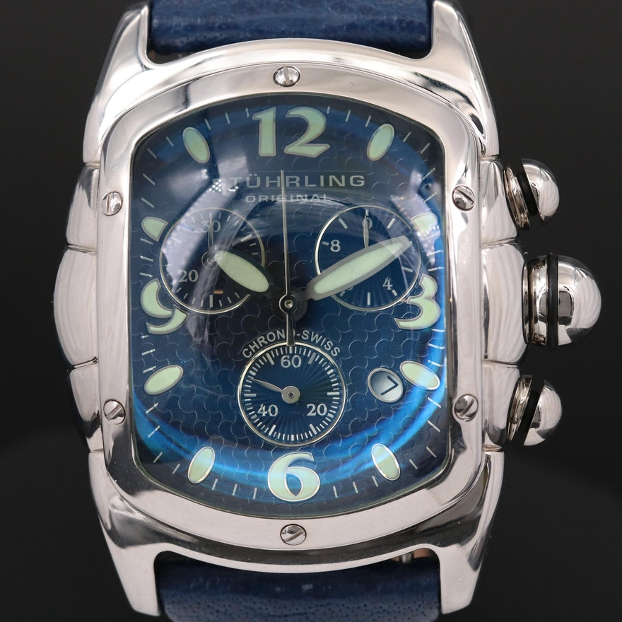 Stührling Stainless Steel Quartz Chronograph Wristwatch