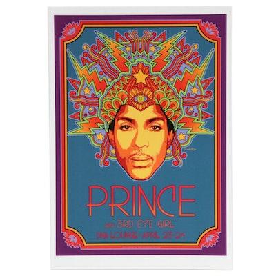"David Edward Byrd Giclée ""Prince with 3rd Eye Girl"""