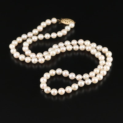 Blue Lagoon by Mikimoto Cultured Pearl Necklace with 14K Closure