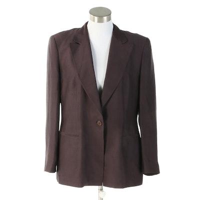 Women's Giorgio Armani Deep Aubergine Silk Jacket