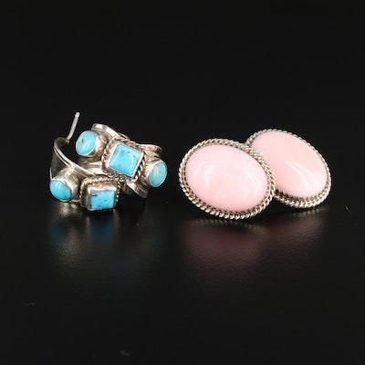 Kay Yazzie Navajo Diné and C. Spencer Sterling Gemstone Earrings