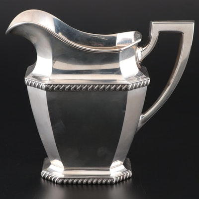 Durgin Gorham Sterling Silver Water Pitcher, 1927