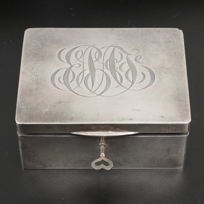 F. & B. Sterling Silver Keepsake Box