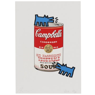 """Raw Graphic Print """"Can Soup Dog Red Bu"""", 2013"""