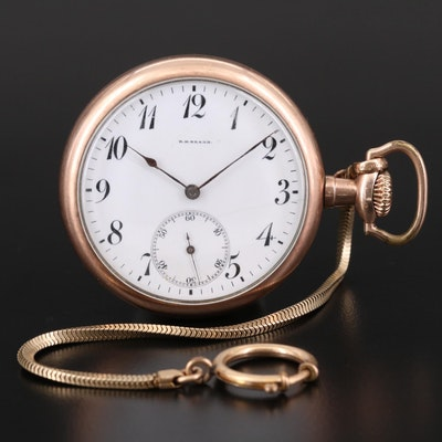 Antique R.H. Brabb Gold Filled Open Face Pocket Watch