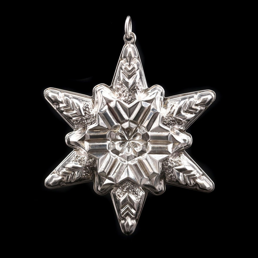 Gorham Sterling Silver Snow Flake Ornament, 1970