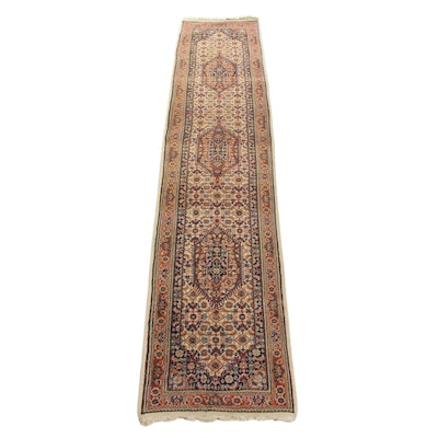 2'7 x 12'6 Hand-Knotted Indo Persian Bidjar Carpet Runner