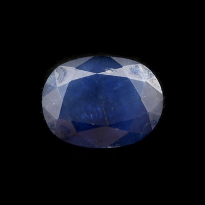 Loose 2.24 CT Oval Faceted Sapphire Gemstone