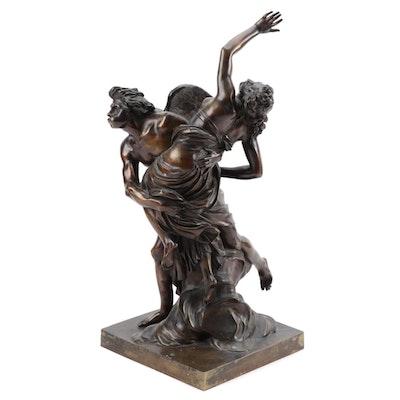 """Cast Bronze Sculpture """"Boreus Abducting Orithyia"""" after Louis-Simon Boizot"""