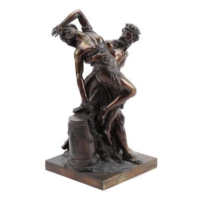 """Bronze Sculpture """"Pluto Abducting Persephonie"""" after Louis-Simon Boizot"""