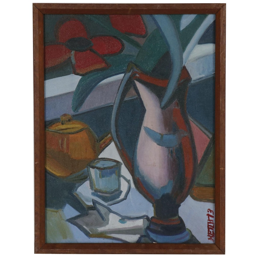 Abstract Modernist Still Life Painting